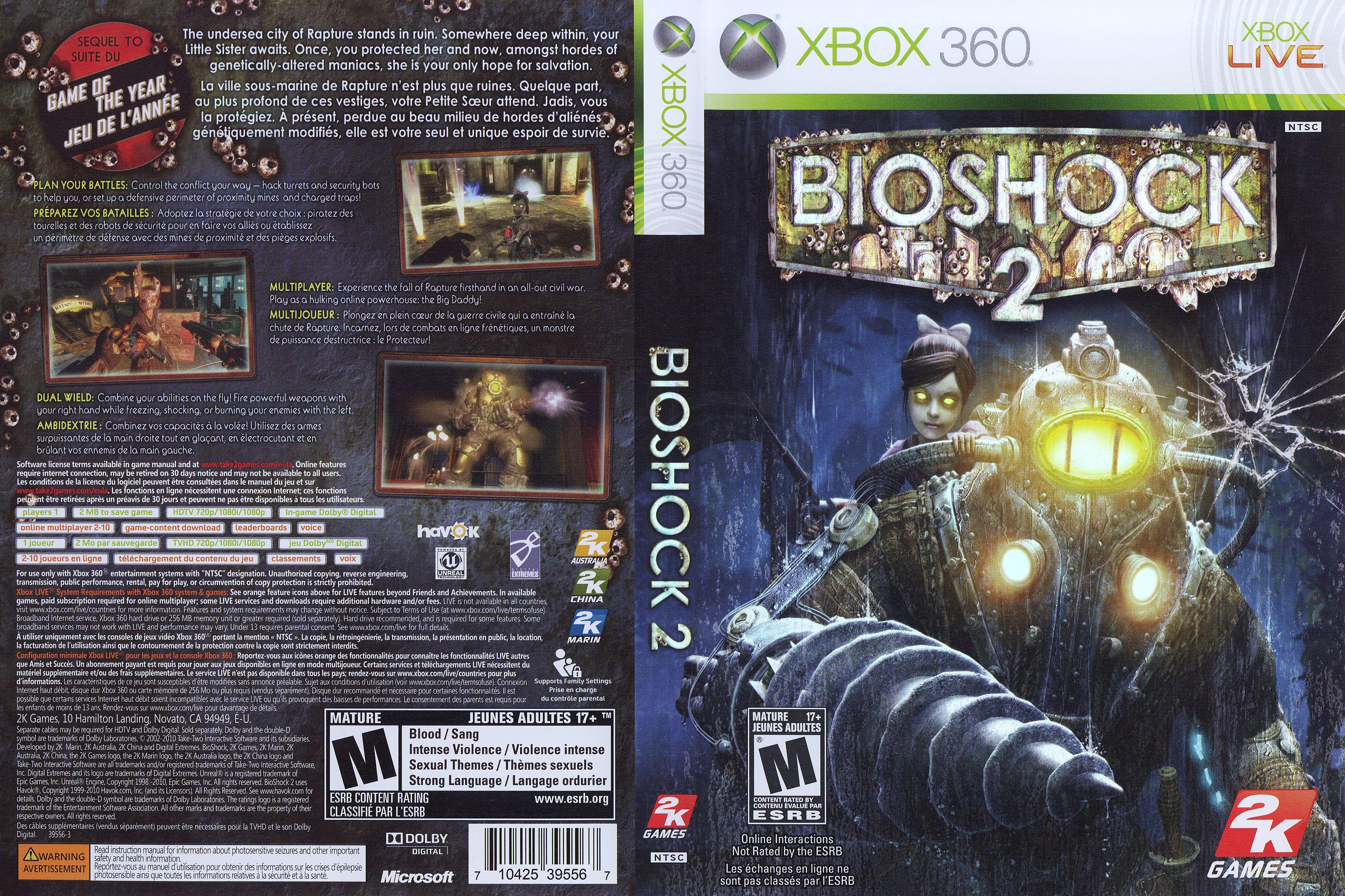 Pin By Malcolm On X Box 360 Games Bioshock Bioshock 2 Xbox