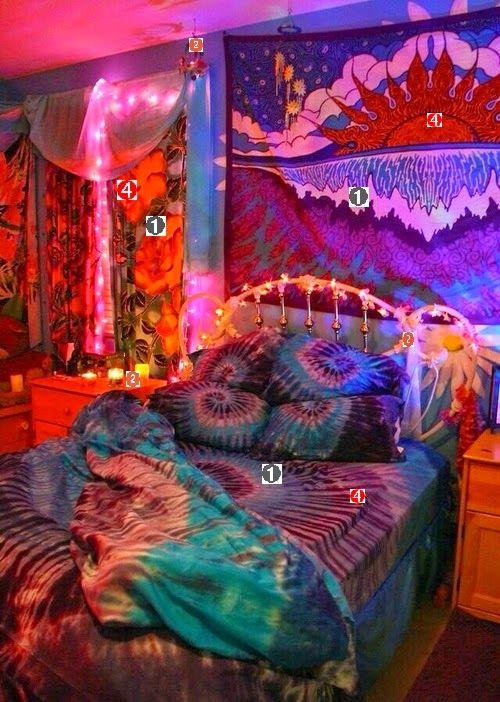 quarto hippie diy decorar decora§£o colorido hipster tumblr blog