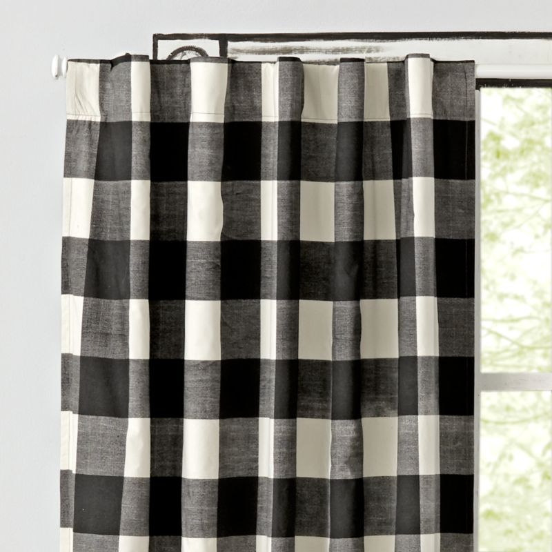 Free Shipping Shop Black Buffalo Check 96 Blackout Curtain Our Buffalo Check Curtains Feature A Classic Black And White Pattern And Are Mad In 2019 Buffalo