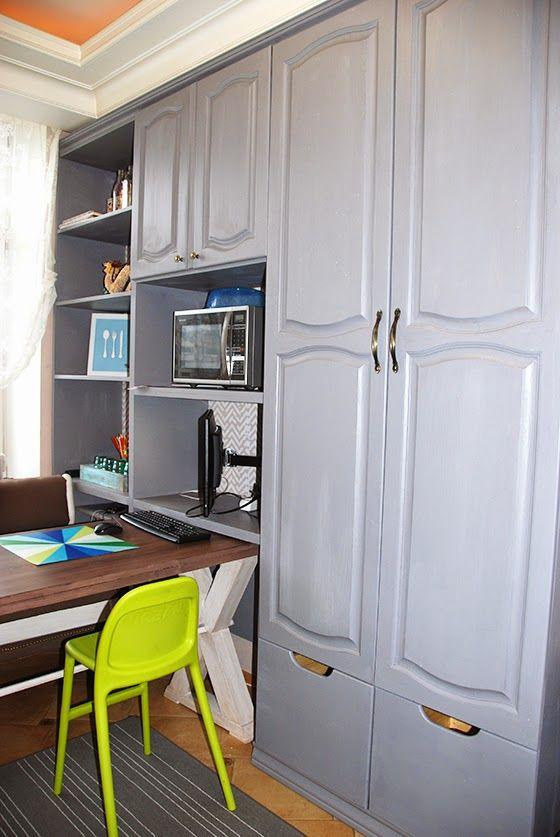 Перекраска кухонных шкафов, сделанных своими руками (с ...