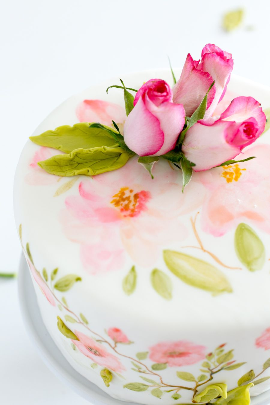 Craftberry Bush | Hand Painted Fondant Cake | http://www.craftberrybush.com