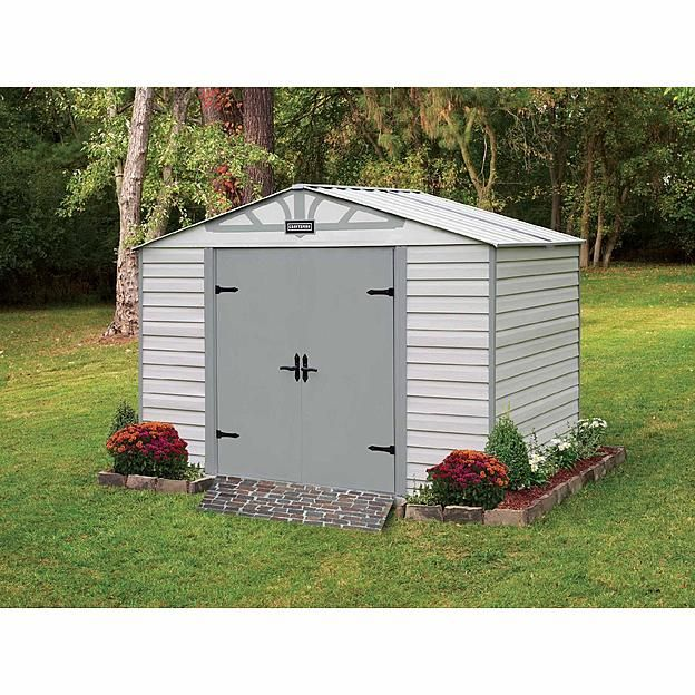 Garden Sheds At Sears craftsman 10-ft. x 7-ft. vinyl-coated steel shed - exclusive