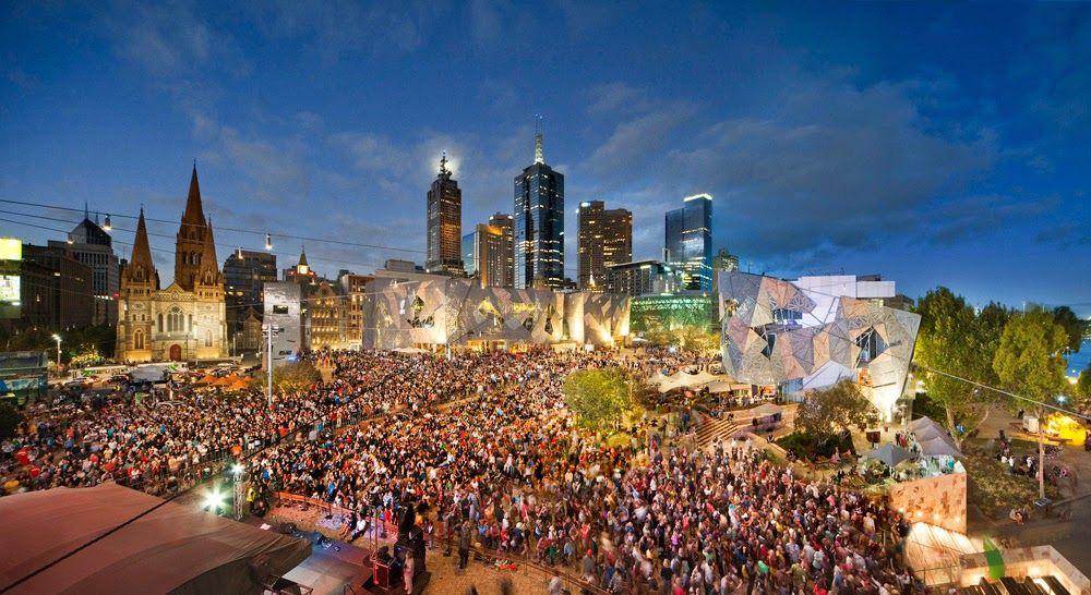 Australia Day at Federation Square Melbourne