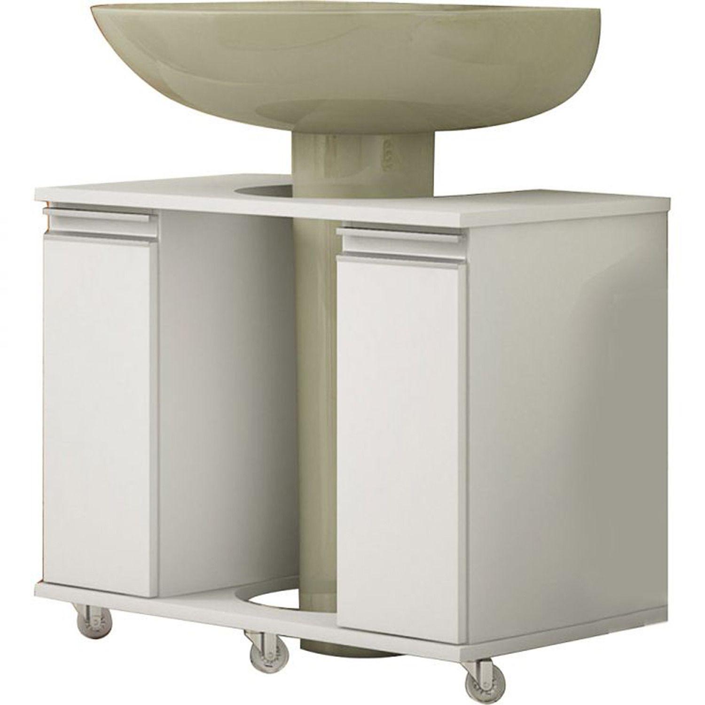 Armario Para Banheiro Para Lavatorio De Coluna 53cm X 70cm X 41cm