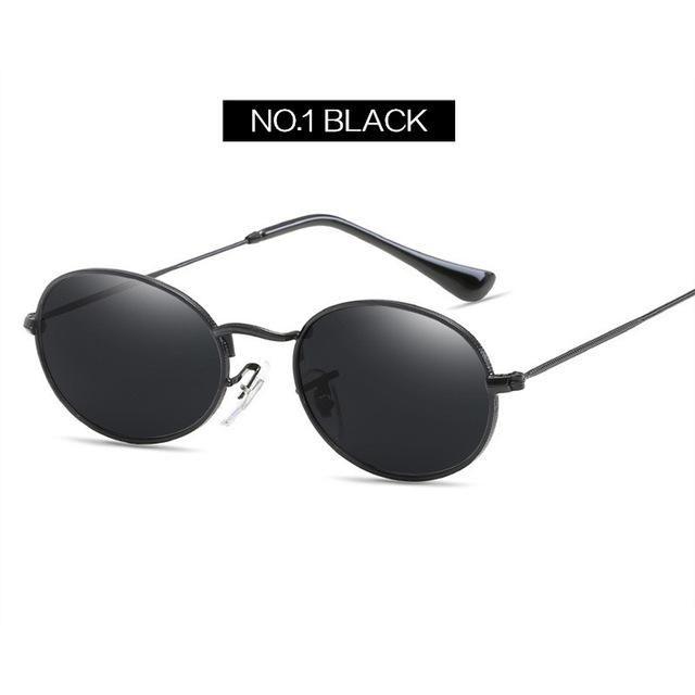 a6e0a486918 YOOSKE Vintage Small Round Sunglasses Women Brand Designer Metal Sun  Glasses Ladies Retro Oval Shades Eyewear UV400