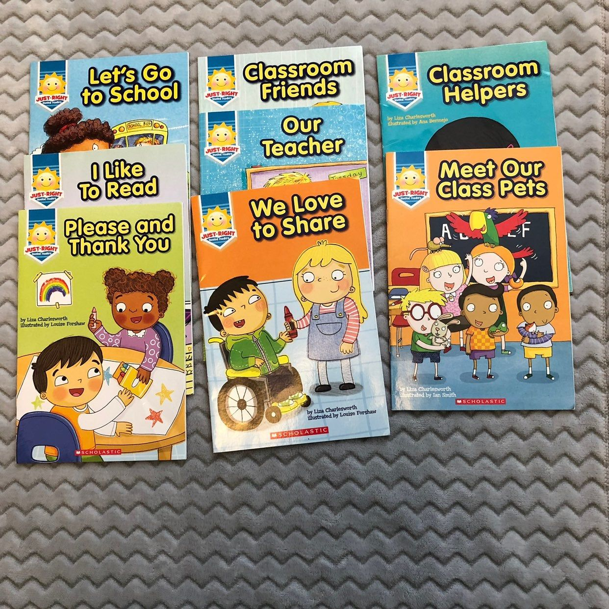 Set Of 8 Scholastic Just Right Level Readers Books In Levela A D Gently Used Condition No Writing Or Tears In Books Fro Scholastic Class Pet Leveled Readers