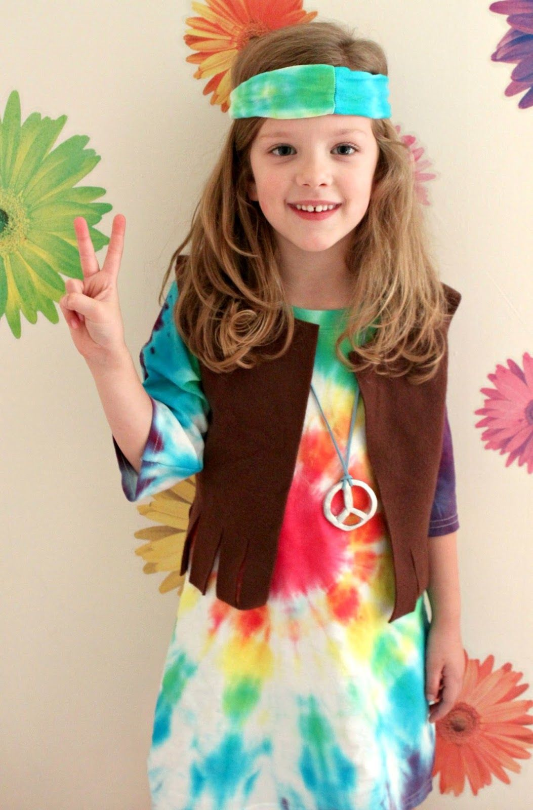 Child Hippie Boy Costume 1960s 70s Book Week Day Fancy Dress Outfit Kids New