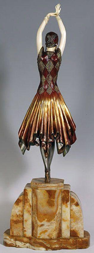 Demetre Chiparus - Art Déco - Sculpture 'Miss Kita'