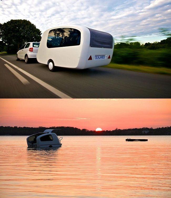 Sealander Amphibious Camping Trailer: Sealander, La Caravana Anfibia