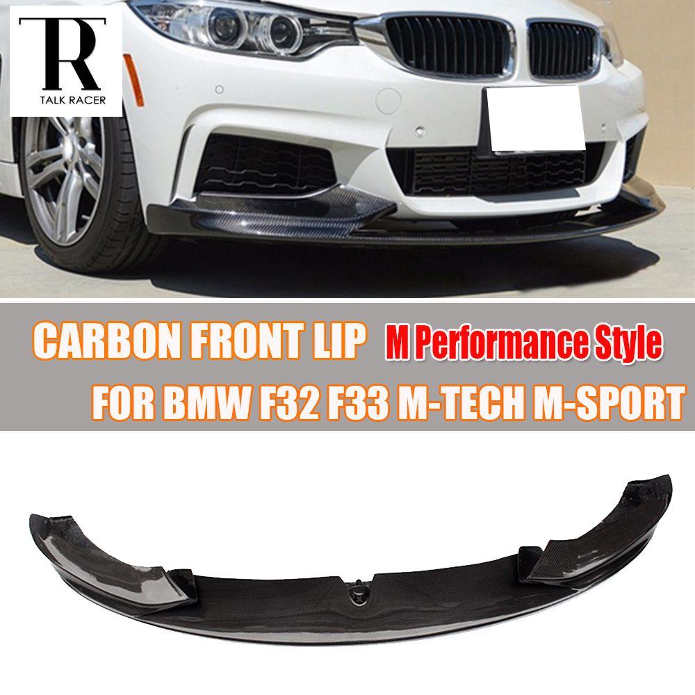 F32 F33 F36 Carbon Fiber Front Bumper Lip Spoiler for BMW