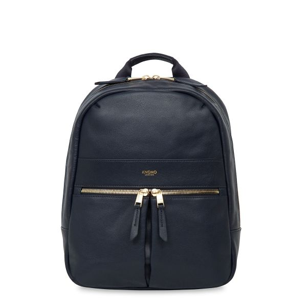Mini Beaux Small Leather Backpack In Navy Knomo