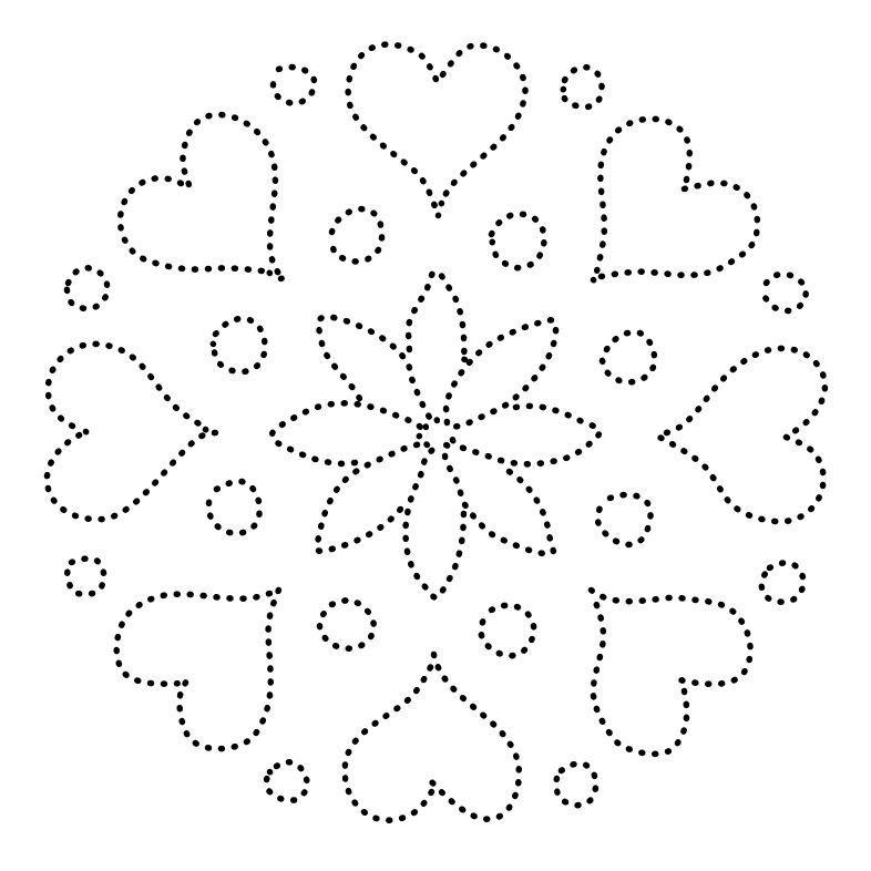 Mandala   LOVE   Pinterest   Patrones para bordar, Mosaicos y Patrones