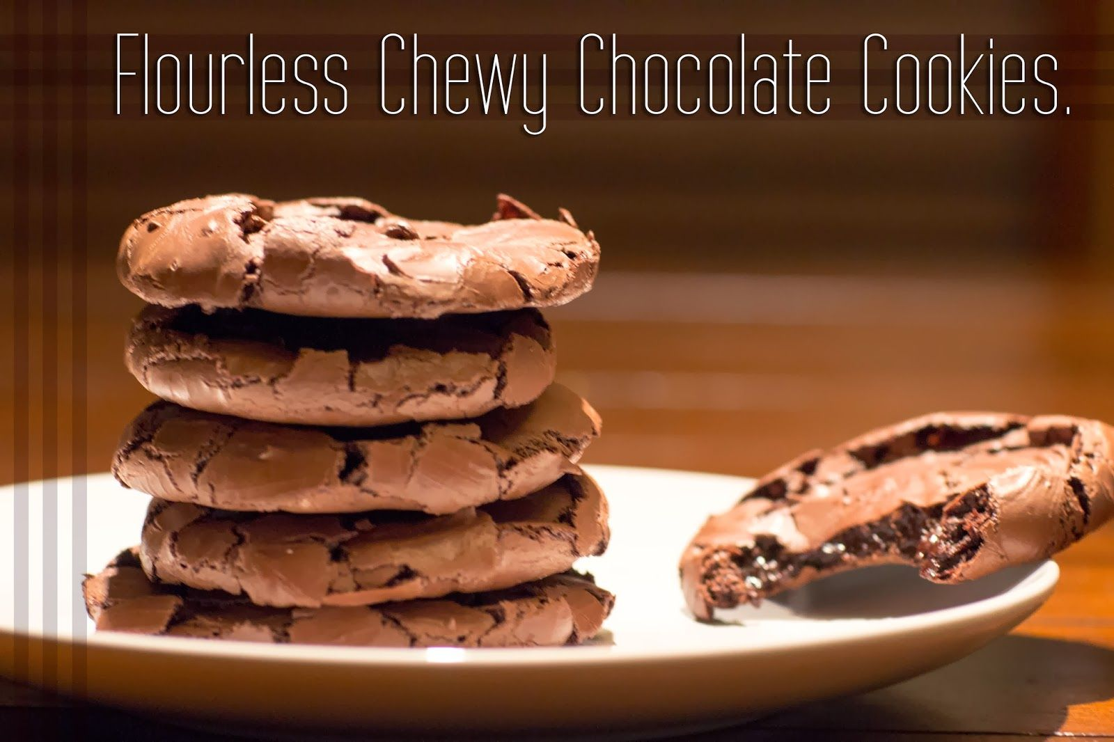 Flourlessglutenfree chewy chocolate cookies chewy