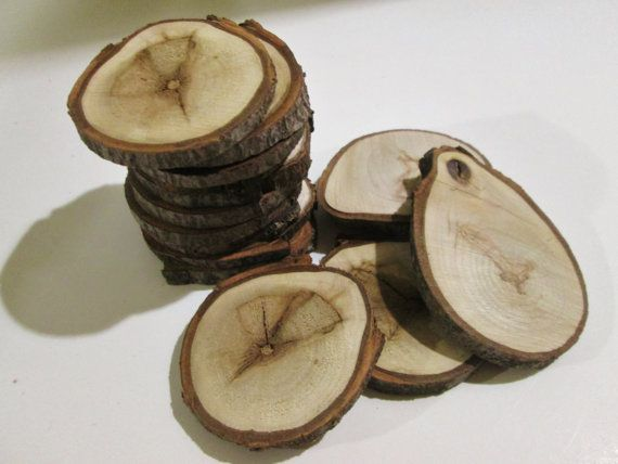 Wood slices rustic tree slices craft wood by for Wood slice craft ideas