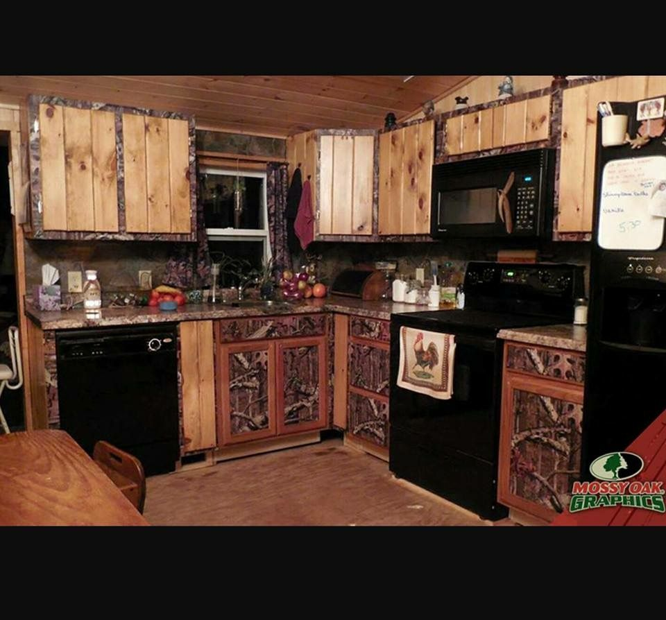 Pin By Denny Jackson On Dream Home Camo Home Decor Camo Living Rooms Rustic Kitchen Design