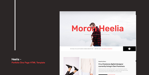 heelia is a fully responsive  clean design and portfolio