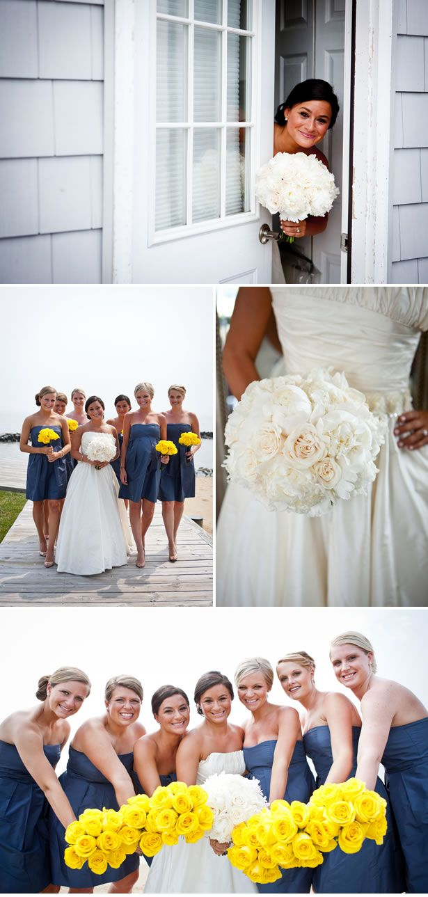 Maryland shore wedding cindy jeff bridal bouquets white