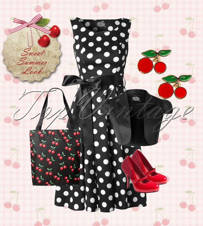 Black Red Polka Dots Rockabilly Retro Sweet Strawberry Cardigan Banned Apparel