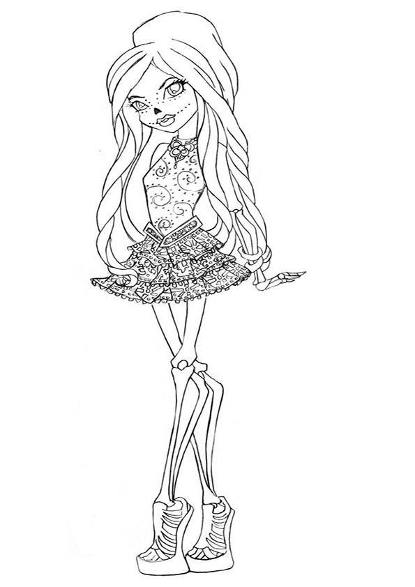 skelita calaveras | Dibujos Monster High Para Pintar | Kamistad ...