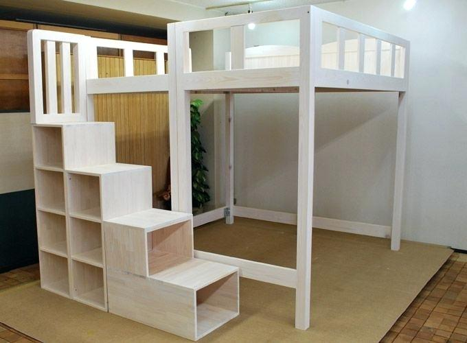 Queen Loft Bed With Stairs 1 4 Queen Size Loft Bed Plans With