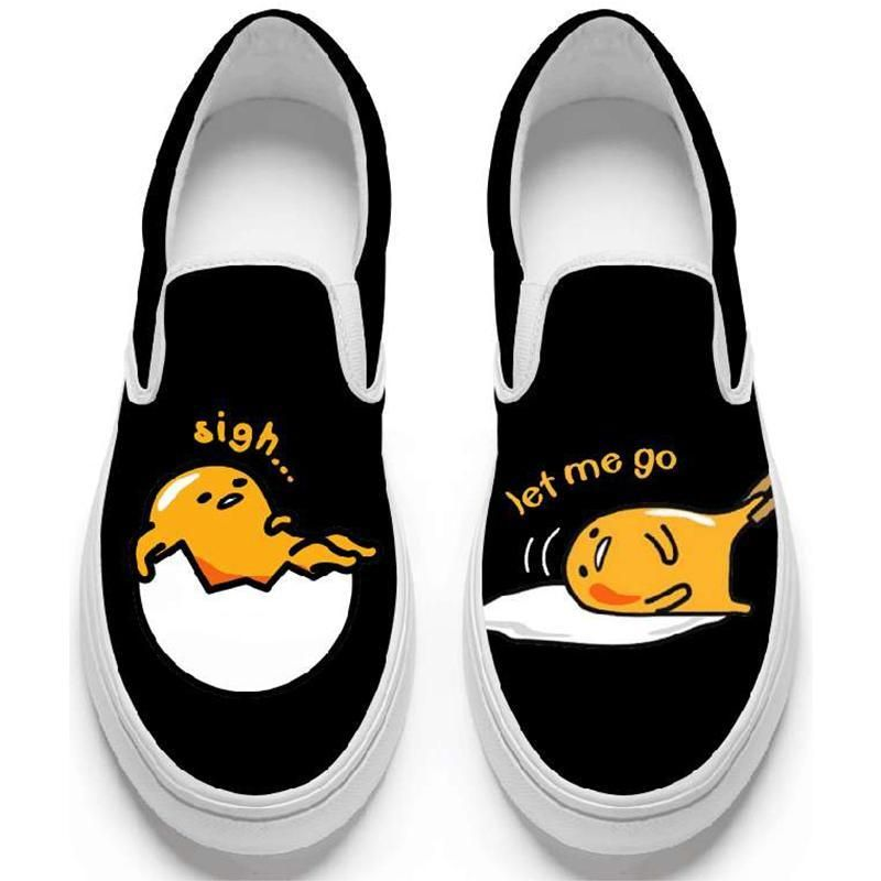 ab3dcf1ec7f Gudetama Slip-On Low Top Sneakers – Totemo Kawaii Shop