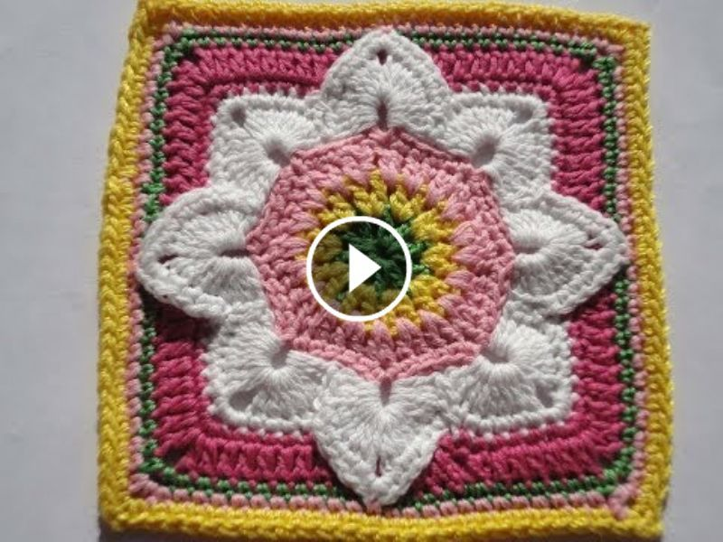 Square de crochê. | cuadrados decorativos | Pinterest | Ferkel ...