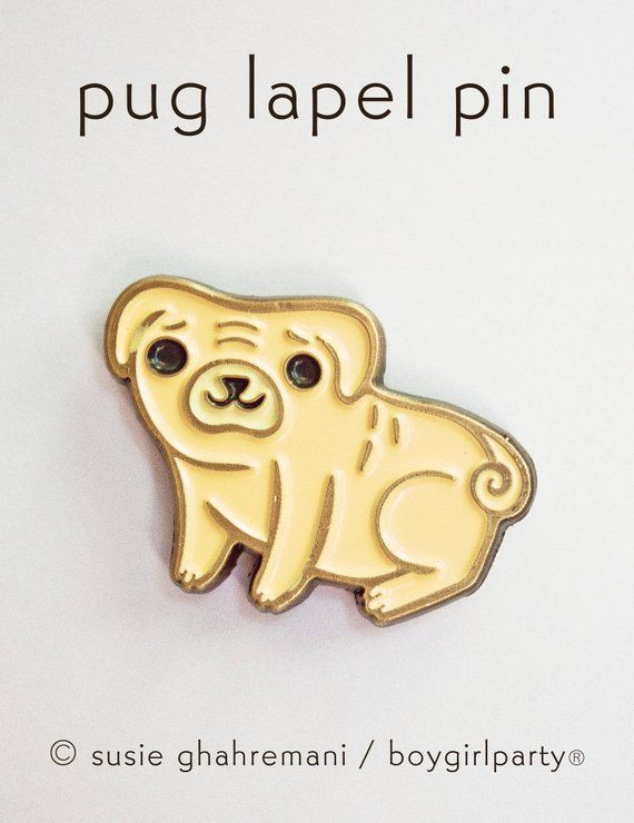 Dog Enamel pins - PUG PIN, pug gifts for her, pugs jewelry, soft enamel pin badge, animal lapel pin