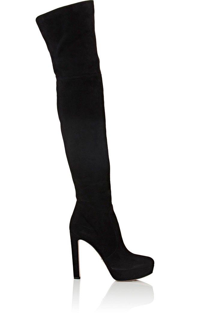 fef2e94c4d2 PRADA Suede Over-The-Knee Platform Boots.  prada  shoes  all
