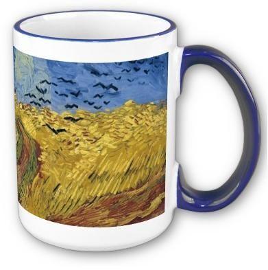 Vincent Van Gogh's Wheatfield With Crows coffee mug. #vangogh #vincentvangogh