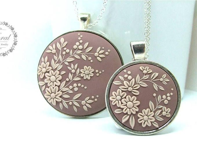 Mother daughter necklace set mom and daughter jewelry flower pendant mother daughter necklace set mom and daughter jewelry flower pendant necklace wedding gift for mother from daughter fimo pinterest arcilla aloadofball Images