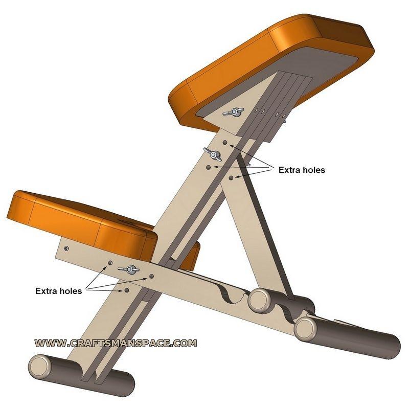 wooden kneeling chair adjustment