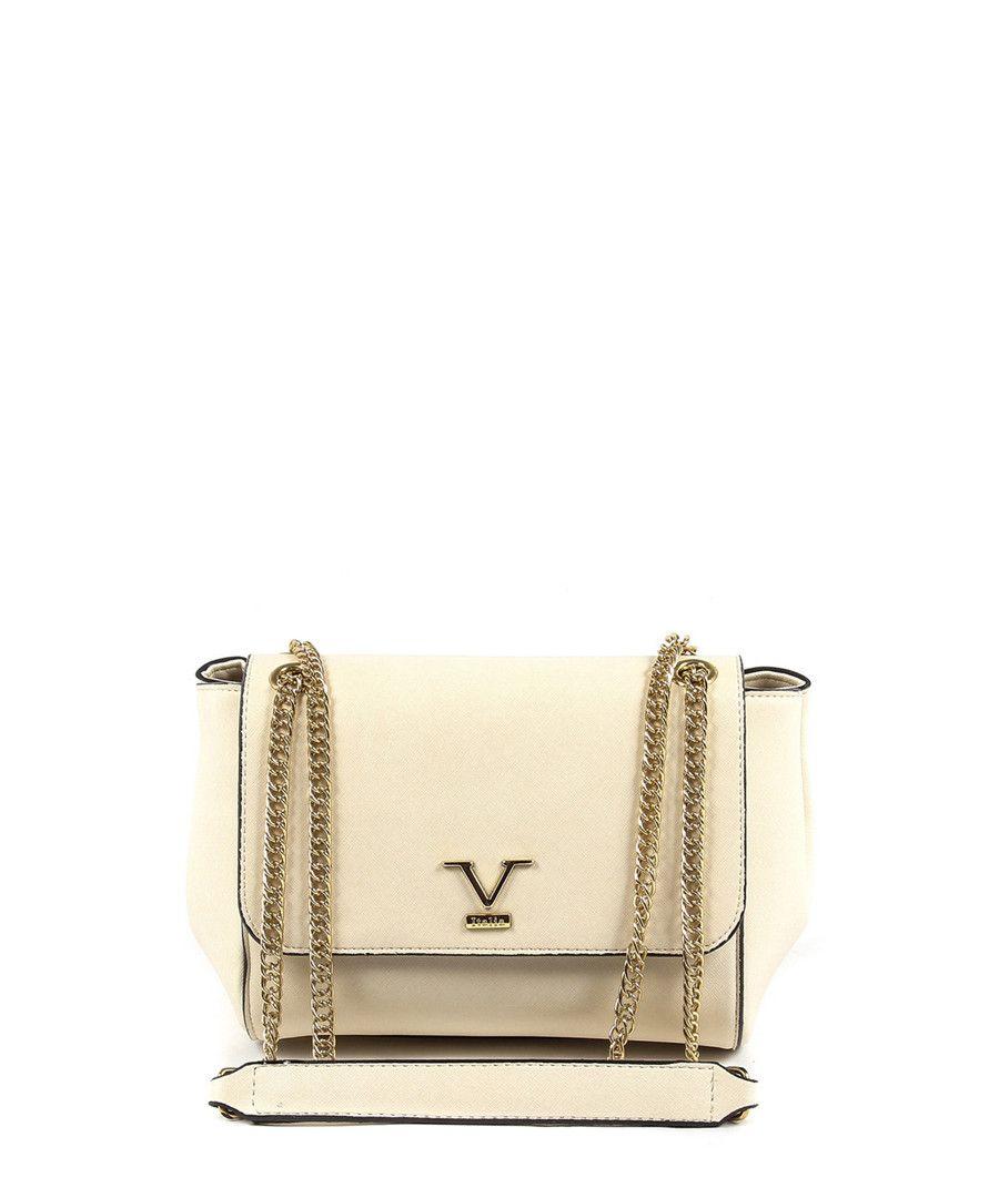Discount Beige   gold-tone logo shoulder bag  87db718dbb60d