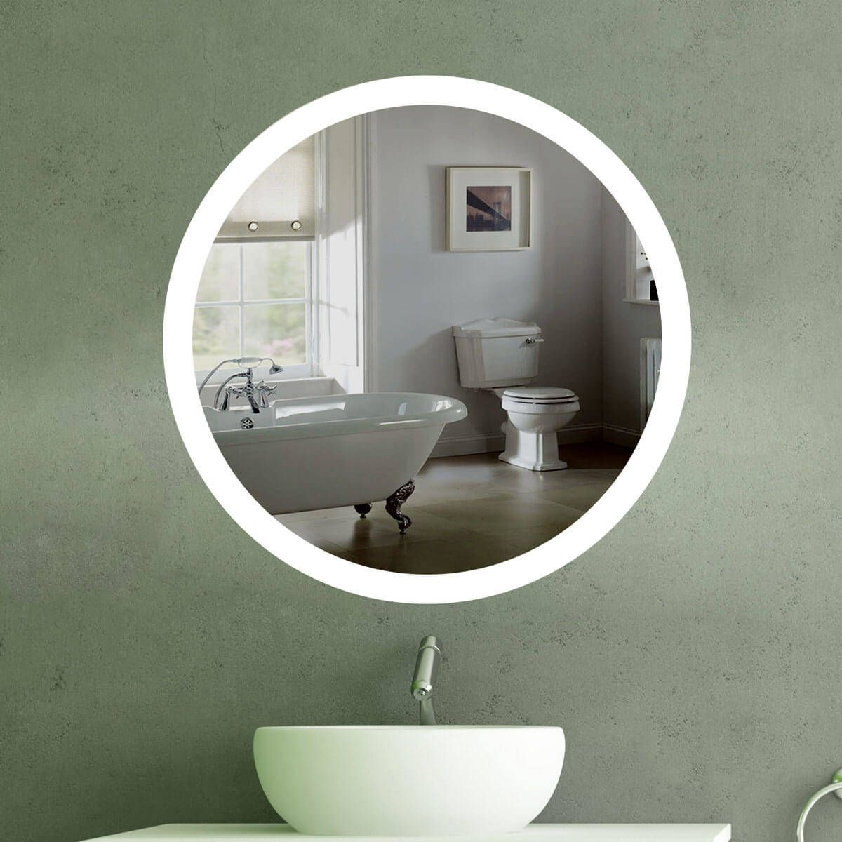Wandspiegel Beleuchtet Rund Led R 405 Badspiegel Badspiegel