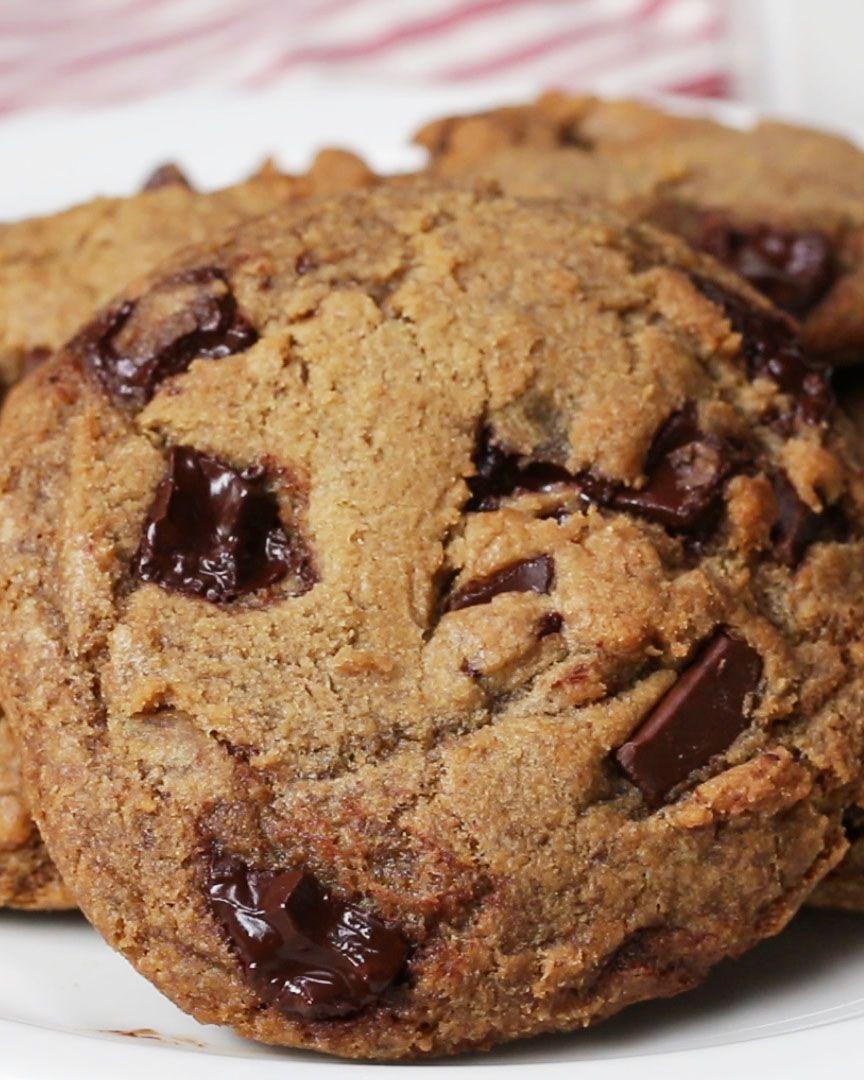 Vegan Chocolate Chip Cookies Recipe By Tasty Recipe Vegan Chocolate Chip Cookie Recipe Vegan Chocolate Chip Cookies Chocolate Chip Pan Cookies