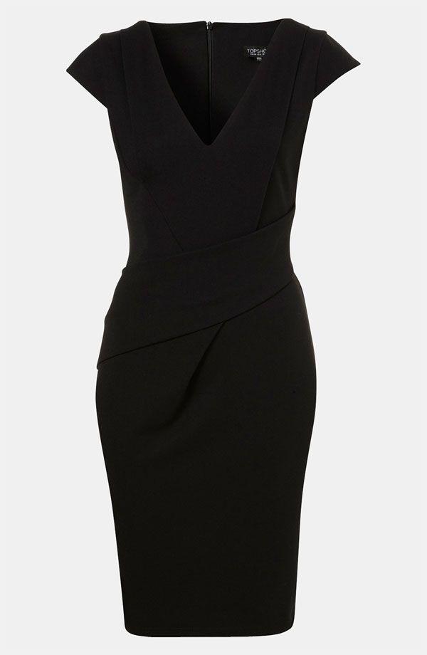 Nordstrom Topshop Wrap Detail Pencil Dress | Fantasy Wardrobe ...