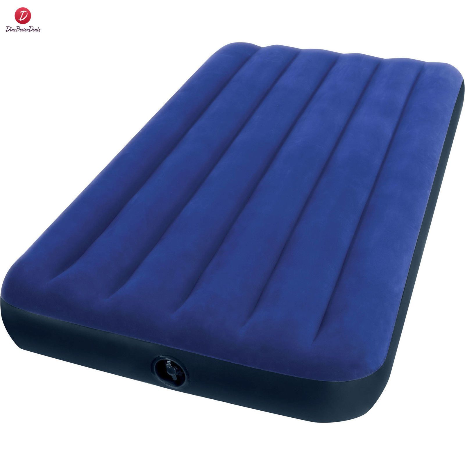 intex twin 8 75 classic downy inflatable airbed mattress outdoors