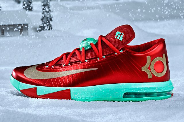 Kevin Durants Signature Sneaker For Christmas 2013 Has Officially Been Revealed Ringing In The Holidays Nike KD VI Is Red Like Rudolphs
