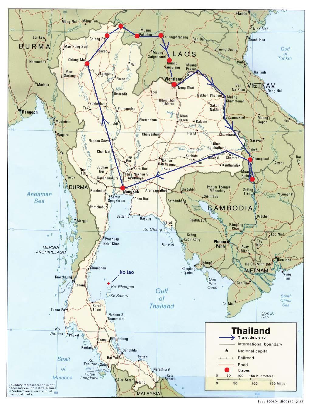 Carte Routiere Thailande A Imprimer.Cartes Thailande Laos Laos En 2019 Thailande Carte