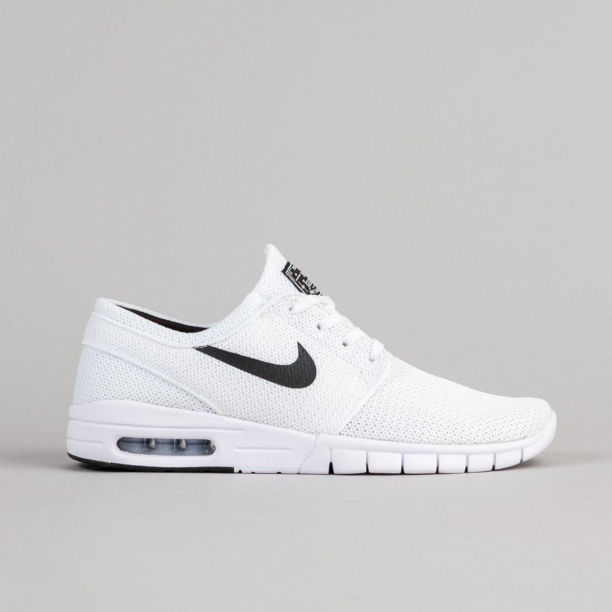 Nike SB Stefan Janoski Max Shoes - White / Black