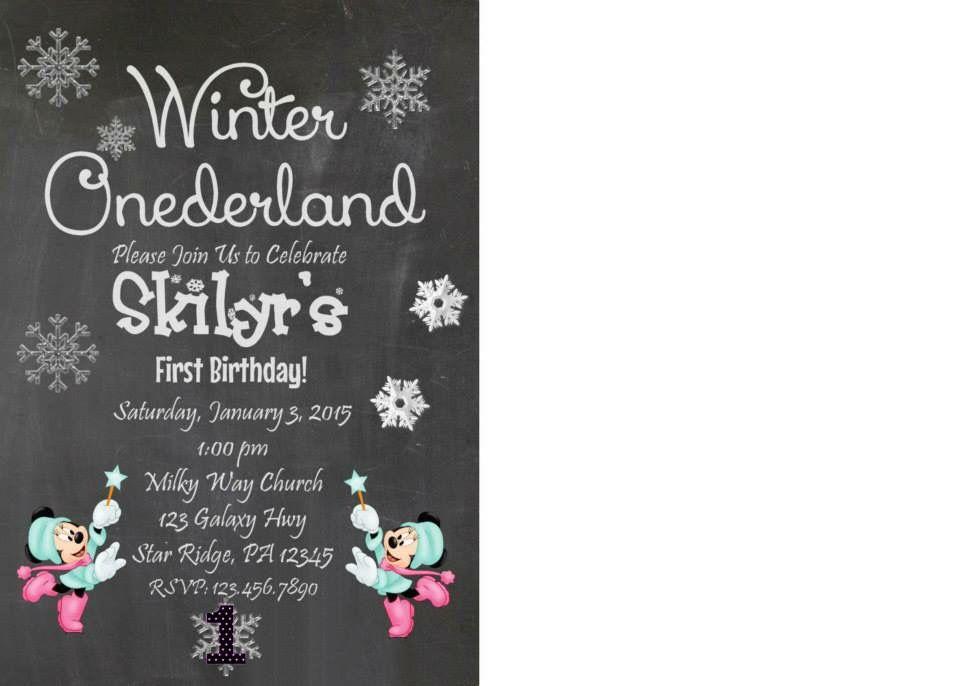 Beautiful Winter ONEderland First Birthday Party | Winter wonderland ...