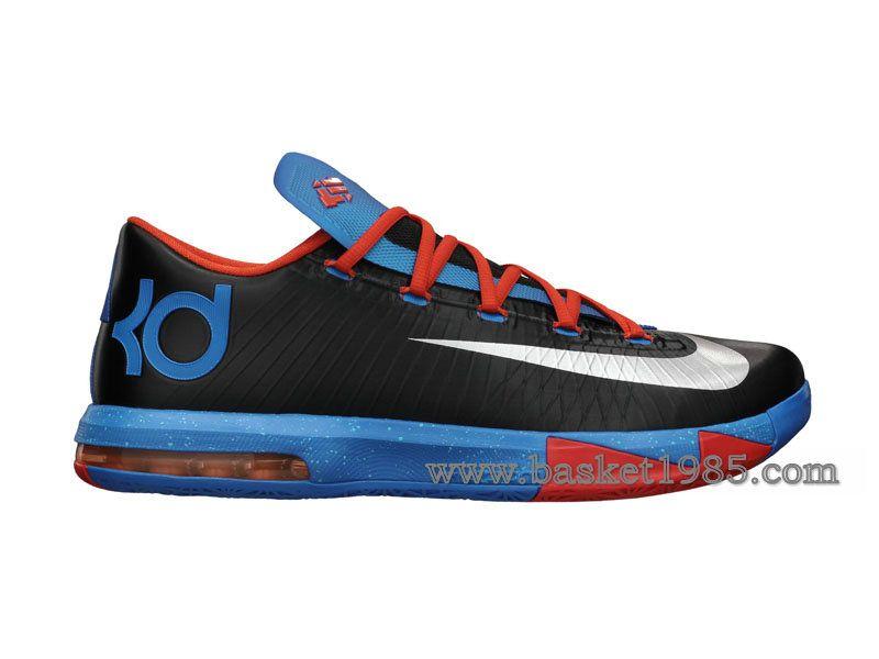 Nike KD 6/VI Away-Chaussures De Basketball Pas Cher Pour Homme Noir Bleu