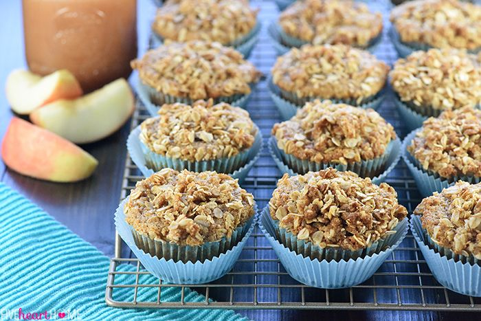 Healthy Whole Wheat & Honey Applesauce Muffins are soft