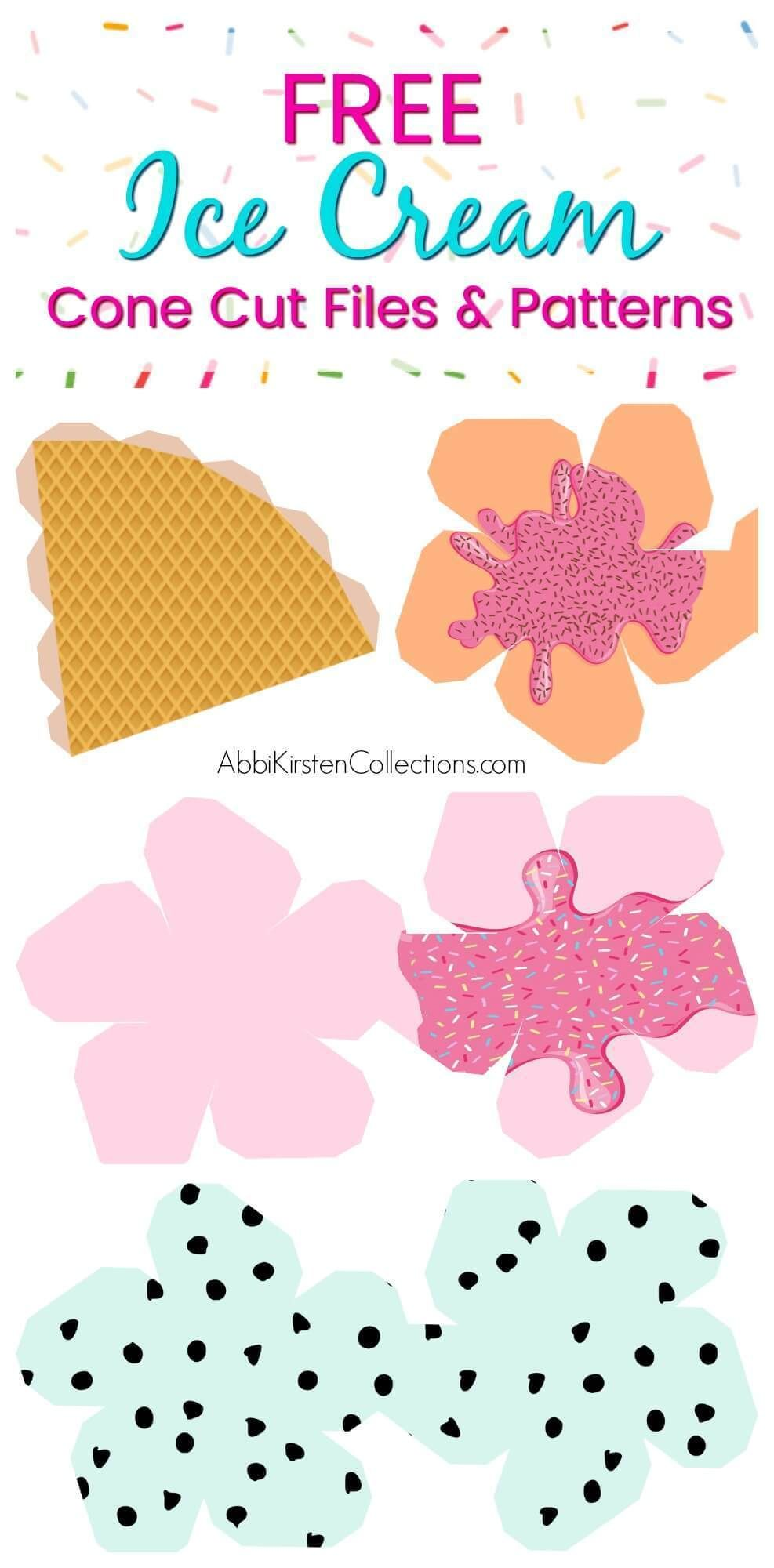 Ice Cream Template Craft 3d Paper Ice Cream Favor Svg Ice Cream Template Ice Cream Crafts 3d Paper