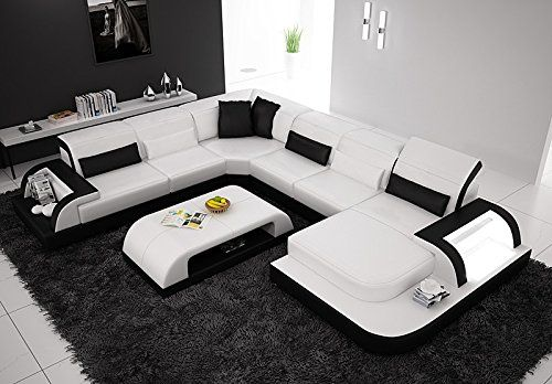 Unique Snow White Italian Leather Sofa Sectional Opulent Items