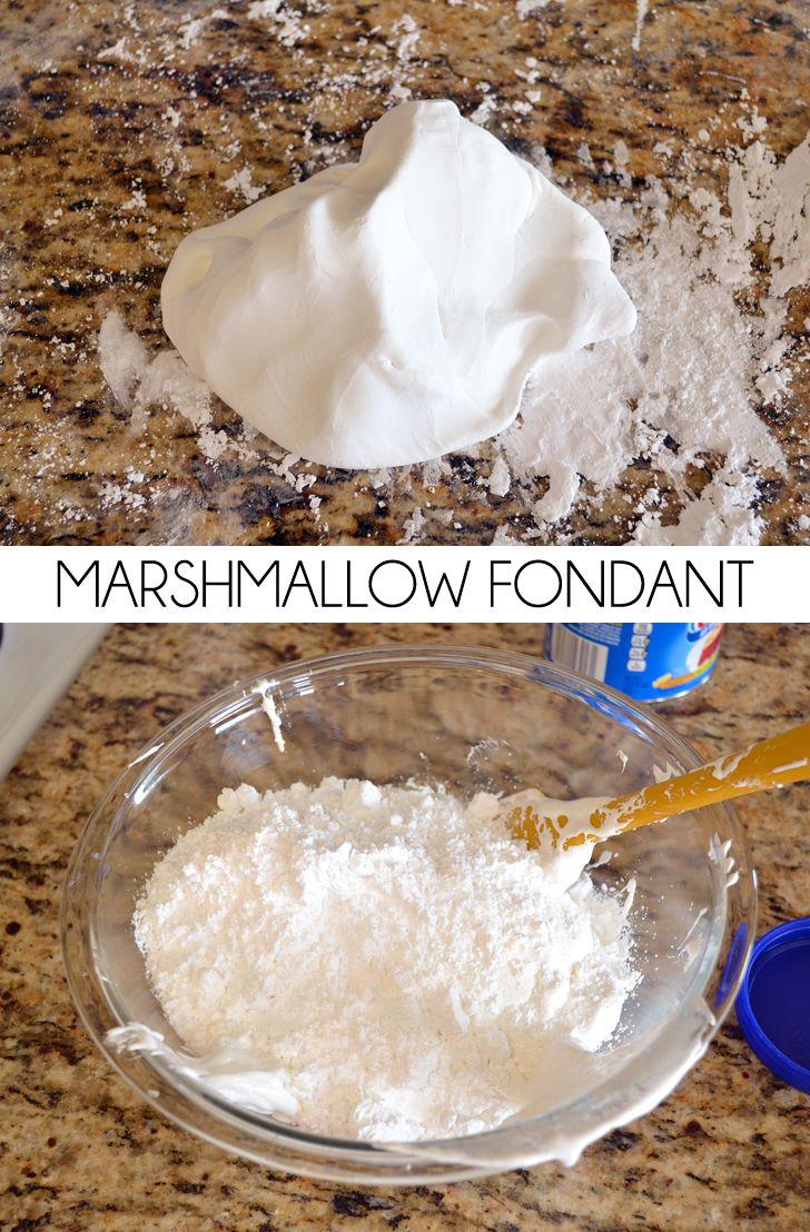 How to Make Marshmallow Fondant (MMF) #marshmallowflufffrosting