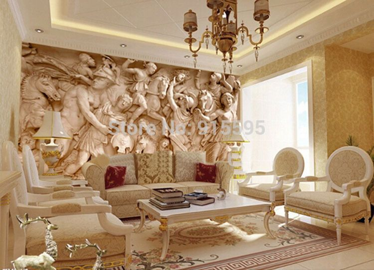 Wallpaper 3d Greek Roman Statues Art Mural Wall Paper Background