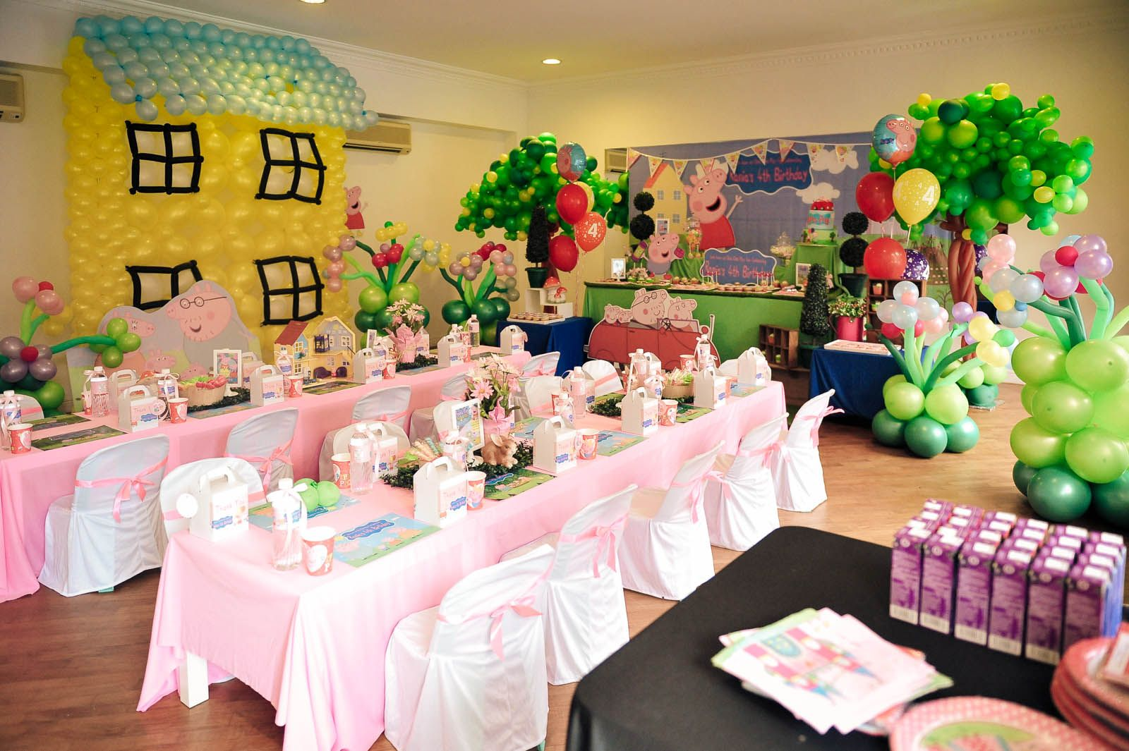 decor party ideas decorations peppa of pig design