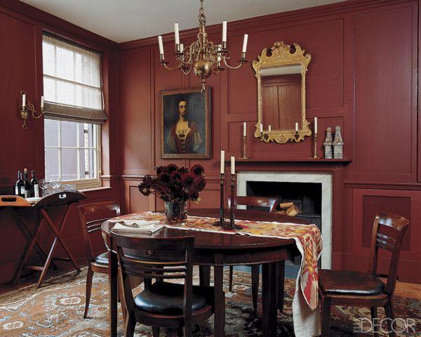 Ruth Burts Interiors Red Rooms Brick Rust Terra