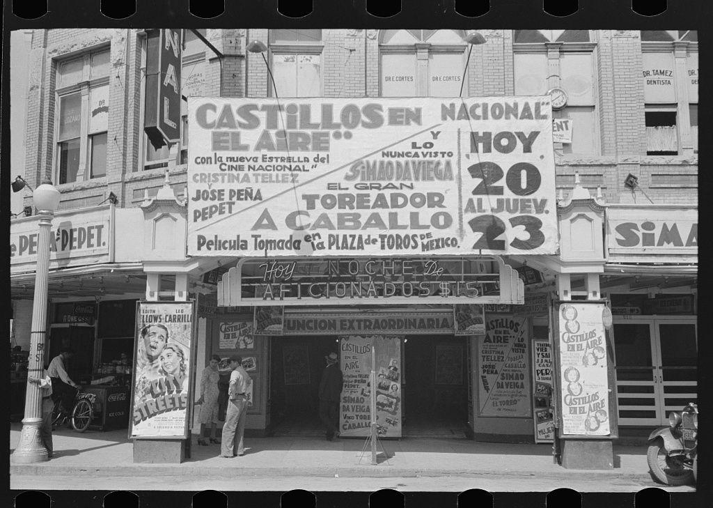 AZTEC MOVIE THEATRE 8X10 PHOTO SAN ANTONIO TEXAS 1959