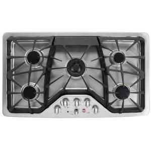 GE Cafe 36 in. Deep Recessed Gas Cooktop in Stainless Steel-CGP650SETSS at The Home Depot